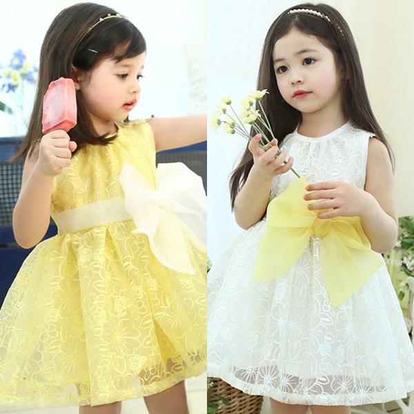 Лето 2015 новые корейские девушки красивые вышитые кружева платье принцессы платье девушки 27А