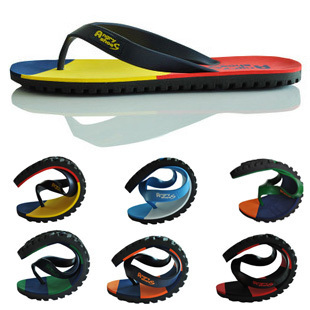 1 pair summer tide men home leisure tire bottom flip flops beach sandals and slippers S020 460g