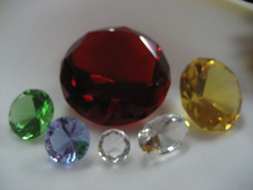 Crystal diamond DIY Ornament Gift Factory price direct selling 40mm colored