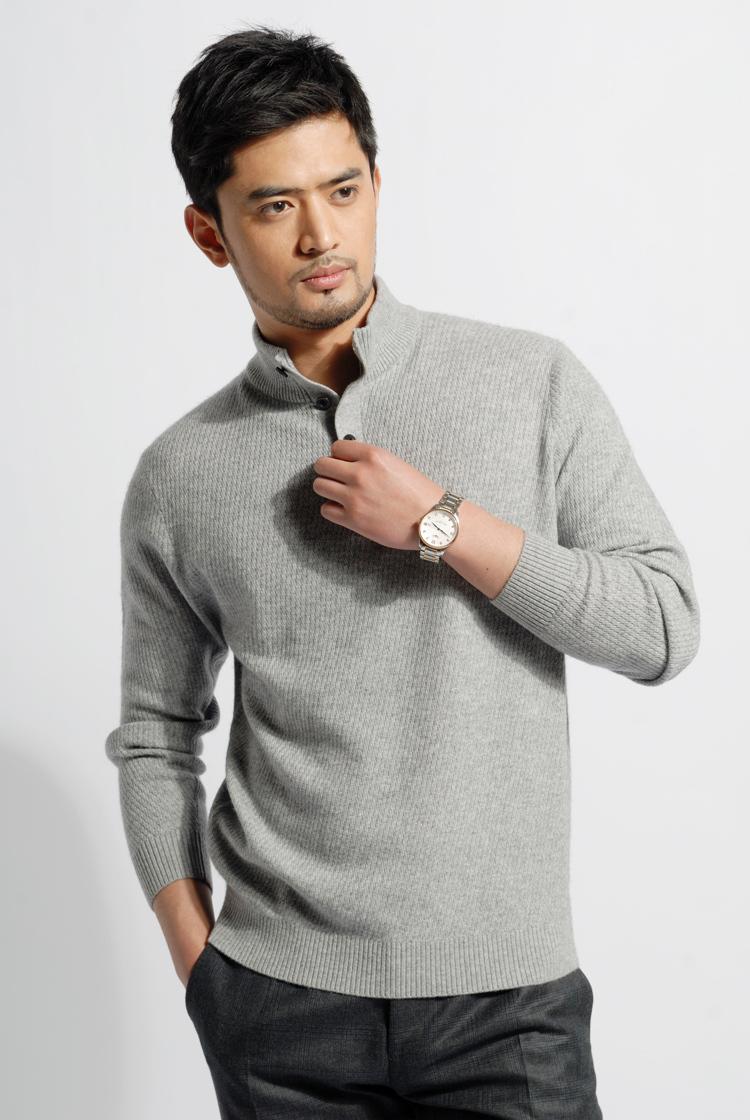 红都男款羊绒衫 男士羊绒毛衣 经典尊贵高品质纯羊绒MX7826