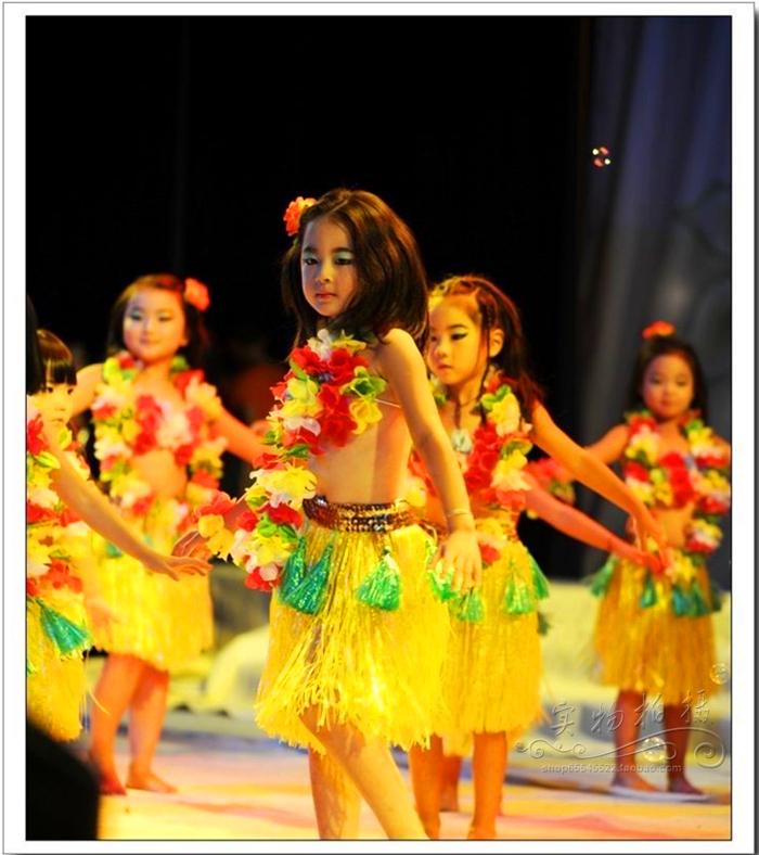 Гавайи юбки гирлянда ребенок юбки танец шесть один ребенок фестиваль детский сад реквизит производительность установите 3 наборы