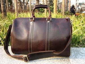 18寸容量真皮男包女包手提斜挎包頭層牛皮商務出差旅行包行李箱包