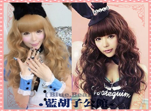 Bluebeard Masuwaka Tsubasa Japanese air cake roll 75cm / lolita daily Wigs / wig accessories / 2 color options