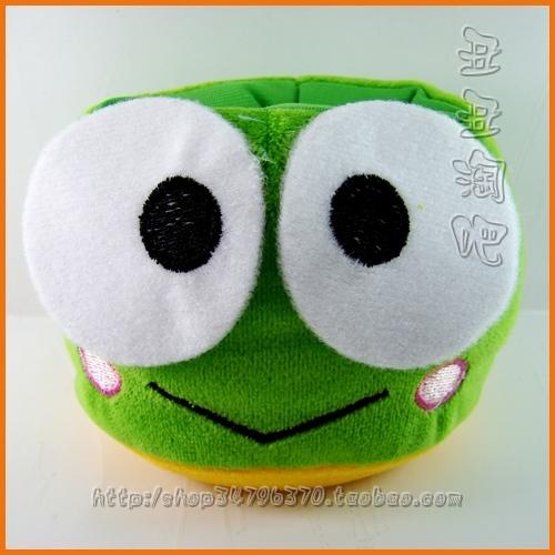 软体绿色圆形青蛙手机座 丑丑淘吧