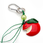 Smiling Apple hung super cute Keychain pendant pendant jewelry accessory creative mobile phone pendant