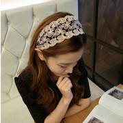 Wide-Pack mail jewelry bow headband Korea hair accessories pastoral stamp issuing Korean female hair hoop headwear