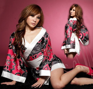 Cheap female Japanese Kimonos sleeping clothes sexy uniforms temptation costumes costumes photography studio cos nightclub