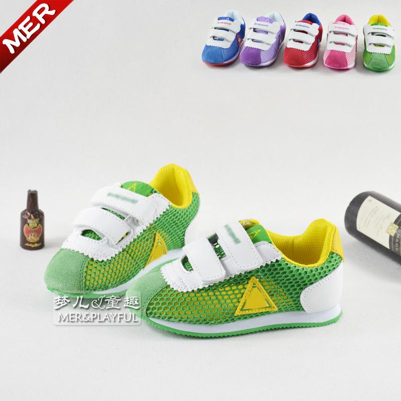 Всплеск летняя обувь внешней торговли пронзили девочек сандалии Детская обувь ребенка обувь мальчиков отверстия сетки обувь спортивные сандалии