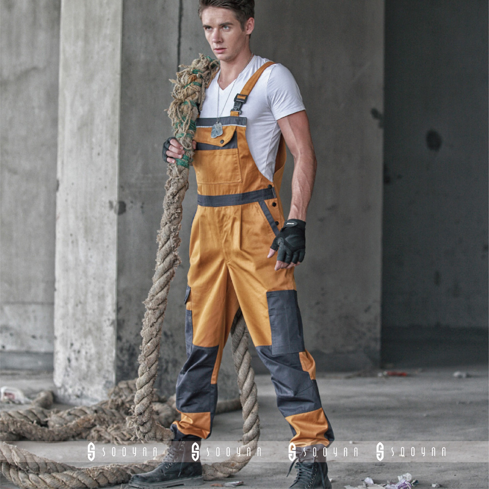 Retro style all-in-one overalls with straps and pants