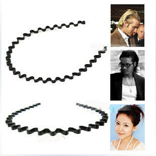 South Korean star favorite steel wavy hair hoop headband unisex hair bands hair headband hair jewelry