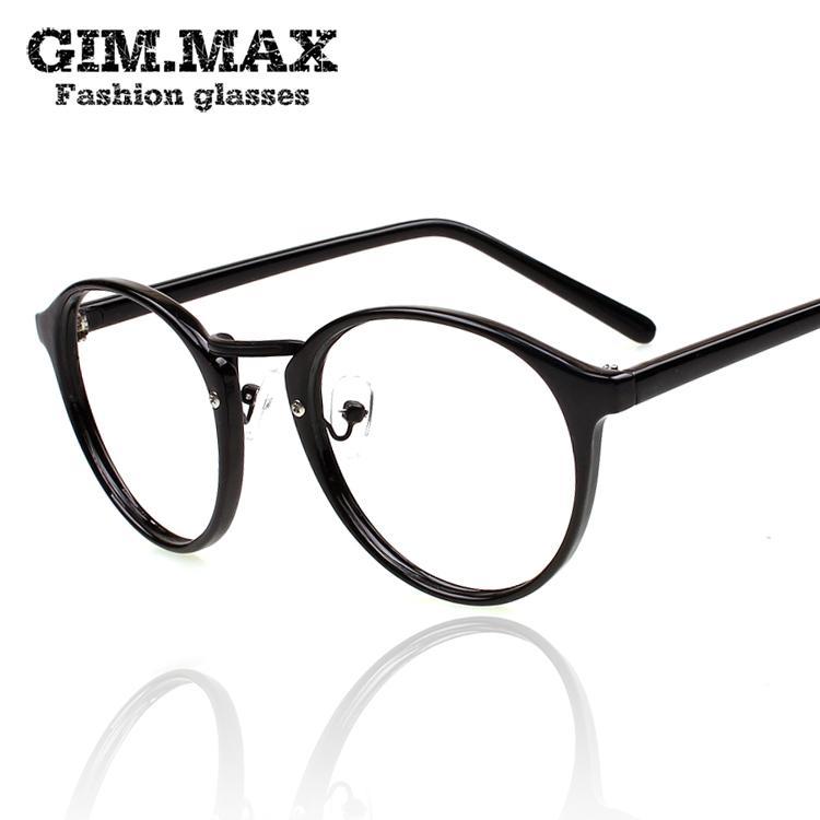 GIMMAX подлинный круглый ретро Leopard печати Очки оптические очки рама супер свет декоративные очки прилива