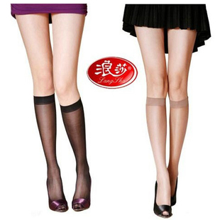 langsha stockings Socks female summer slim black flesh-colored stockings short half in the EC authentic wholesale 10 双