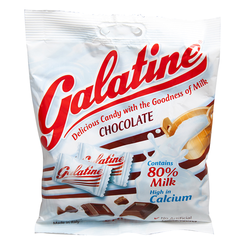 ~天貓超市~意大利 Galatine佳樂錠 阿拉丁奶片巧克力味100g
