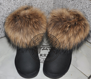 2011 latest short paragraph 5854 short tube 100 fox fur snow boots Sheepskin multicolor