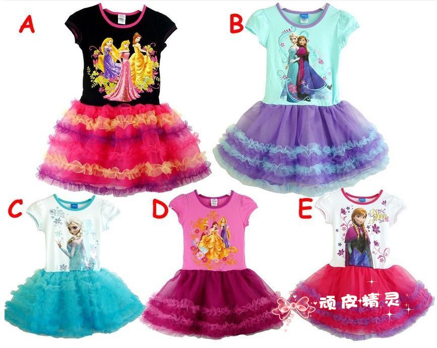 Одеваются замороженных льда одеваются Золушка Дисней Принцесса Туту юбка торговли взрыва под юбки для девочек