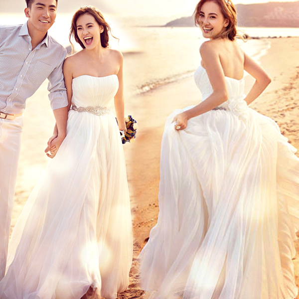 Корея-Корейский море местоположение stomacher алмазы новых беременных женщин плюс Размер Свадебные платья 2015 зимой носить 590