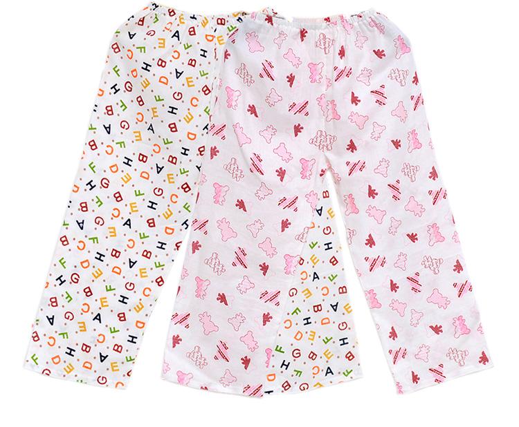 双层纱布纯棉宝宝长裤儿童夏季外穿长裤舒适单裤睡裤空调裤家居裤