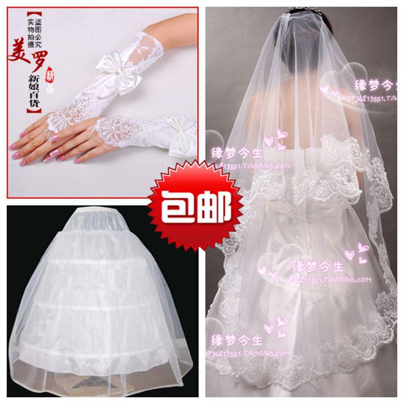 Фата 3 пакетов mail трехсекционный для новобрачных аксессуары невесты платье невесты положить три пакетов mail