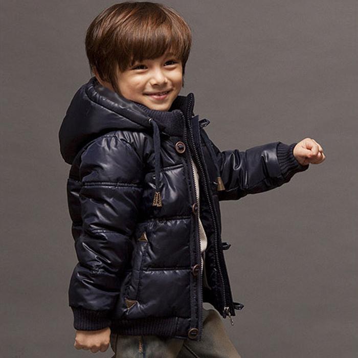 Приливный осень и зима теплая Детская одежда детей пальто утолщаются корейской версии мальчиков вниз куртка вниз куртка аутентичные сезона пакет mail
