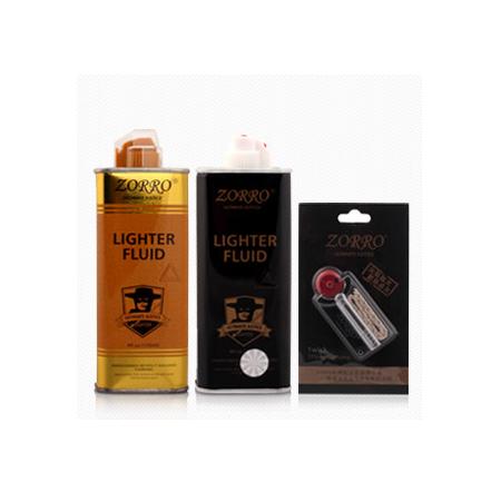 Зорро зажигалка специальный подлинный уголь масло свежий аромат черный золото цвет доказательство ветер чистый бесплатная доставка 2 бутылка