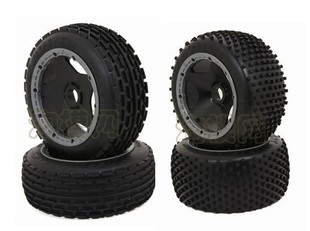 Petrol remote control car 1/5 HPI Baja 5B off-road vehicle black box + box Ipomoea tire set (4pcs)
