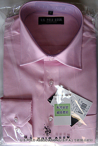 U. S.polo Paul American Polo Association counter authentic mens Pink Cotton Long Sleeve Shirt