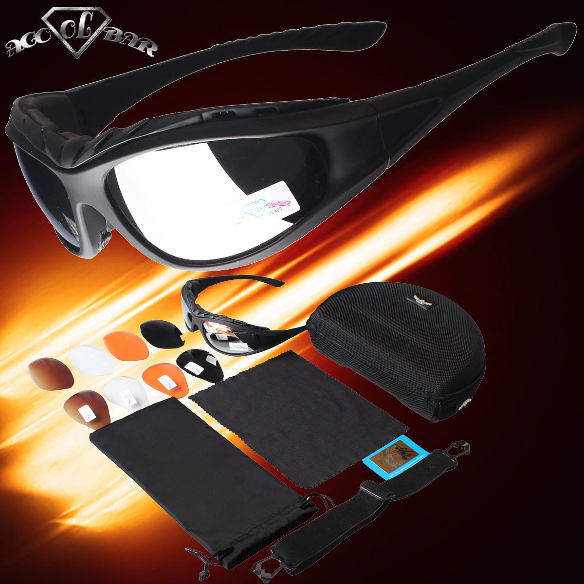 ACOOLBAR мотоцикл ездить в 55 пар сменных линз поляризованных спортивные очки ветра зеркало, пот