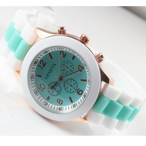 Macarons студентов цвет желе часы Женева, ЖЕНЕВА дамы и лампа дневного света цветные часы, мода конфеты цветные