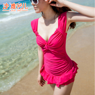 Beach darling lovely cake skirt piece swimsuit cover the belly cross dress big yards was thin female swimsuit