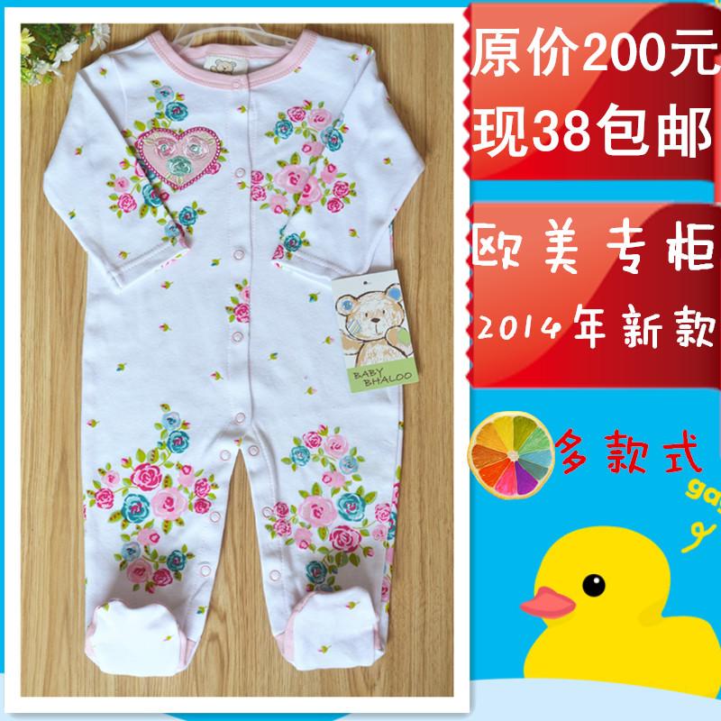 Внешней торговли оригинальный простой новорожденного носки хлопка детские Комбинезоны комбинезон пижамы Yi полная луна день одежда почта