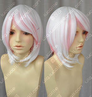 sell like hot cakes Pink rabbits anthropomorphic ZYR cherry Hatsune short hair white gradient pink lolita cosplay wig