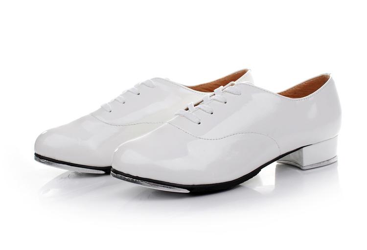 Удар протектор обувь бесплатная доставка мужской и женщины ребенок для взрослых белый свет кожа алюминий конец удар поступь обувь не тянуть следующий Yi танец обувной
