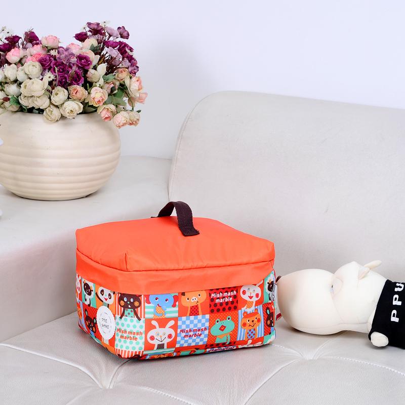 宅美日式迷你布艺收纳盒 有盖整理盒 可洗旅行储物盒 内衣收纳袋