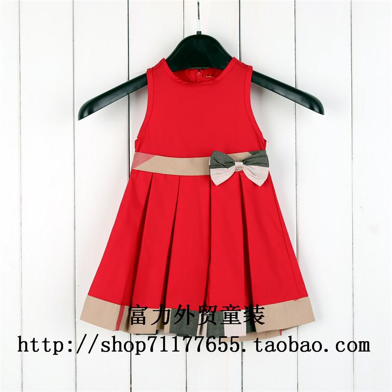 к 2015 году Новая красивая принцесса Детская одежда Детская одежда розетки девушки Плед юбки платье без рукавов платье