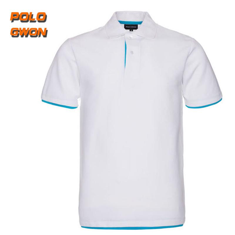异色短袖T恤衫 可定制定做印LOGO 情侣 短袖polo衫 品质工作服