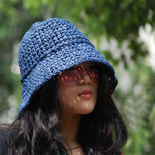 Женский Корейский моды соломенные шляпы УФ защиты ВС Hat складной солнце шляпа пляж шляпа летом солнце шляпа