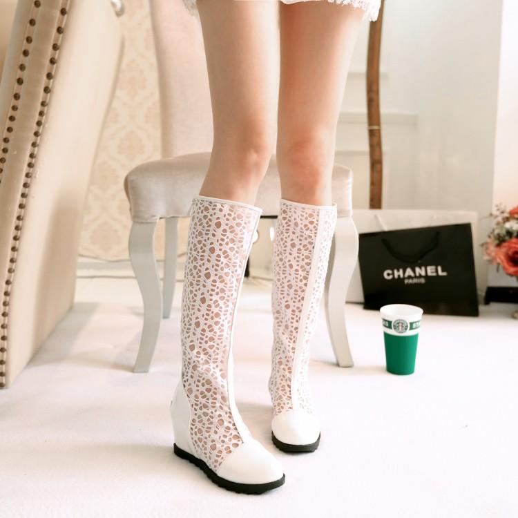 Корейский летняя Холлоу сеть сапоги Женская обувь осень прохладно весной и осенью сапоги Сапоги сапоги Сапоги увеличилась в летнее время