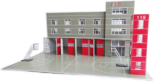 Spot global model building Chinese style fire CH81639