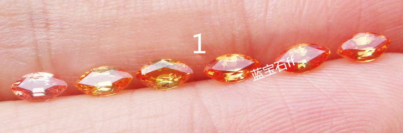 Orange yellow, orange yellow, transparency, fire color, flash, natural sapphire, bare stone, MS2 * 4mm