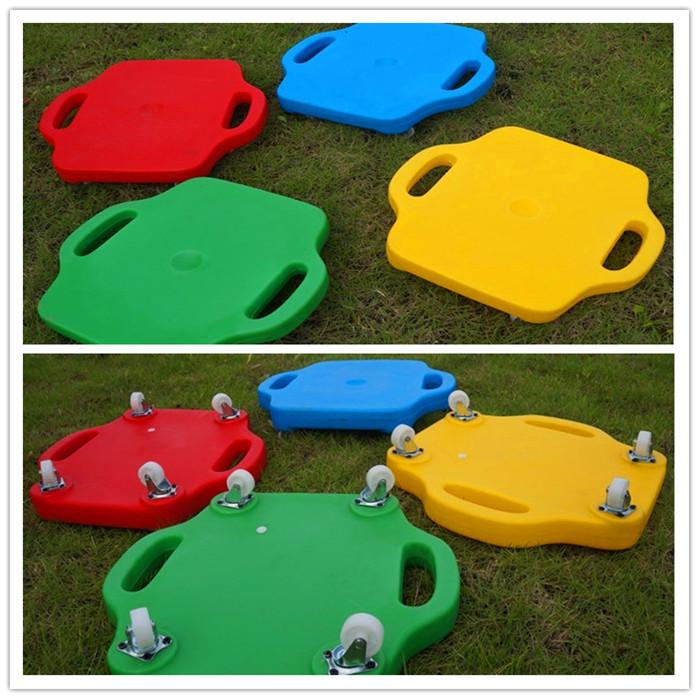 感统训练滑板滑滑车儿童早教感统训练器材玩具塑料方形四轮滑板车11-06新券