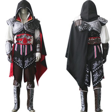 Spot Cosplay clothing mens assassins Creed II the number of complete sets of Ezio black clothing is small