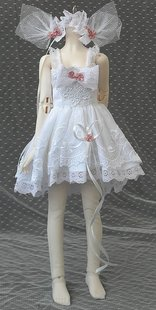 1 4BJD doll super multi Lace Dress send headwear socks
