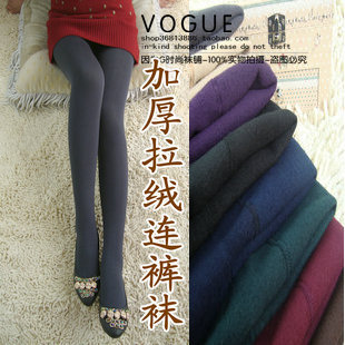 Within five brushed autumn and winter thick section thick nap pants color pantyhose step foot nine points bottoming tights