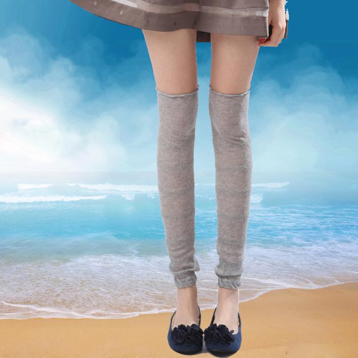 花潮花汐春夏薄棉瑜珈舞蹈袜套女空调房保暖护膝护腿过膝户外防晒