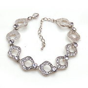 Package mail smiling Korea new Crystal rhinestone alloy bracelet hand chain Korean jewelry women