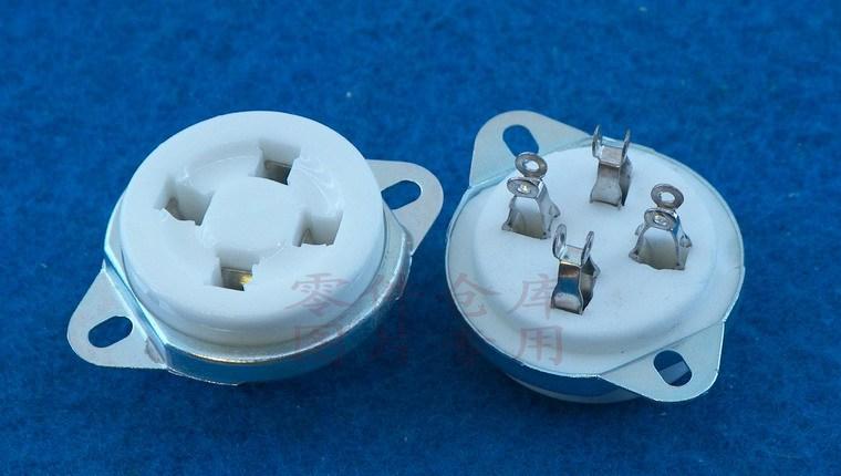 C4-C с неподвижными трубными трубка 4-контактный разъем Socket/4 ПИН трубки розетки (для 300B) платье