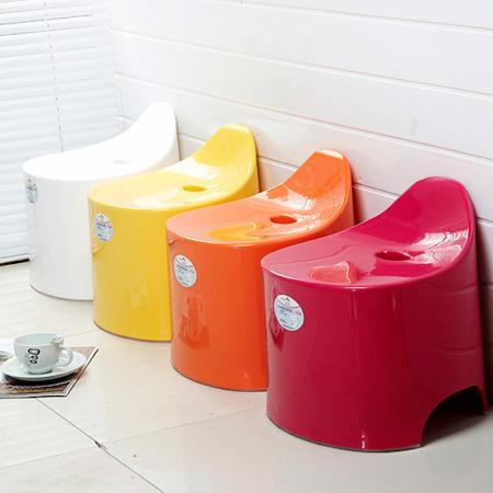 稻草屋 糖果色浴室防滑凳 家居小板凳 日式加厚型矮凳換鞋凳