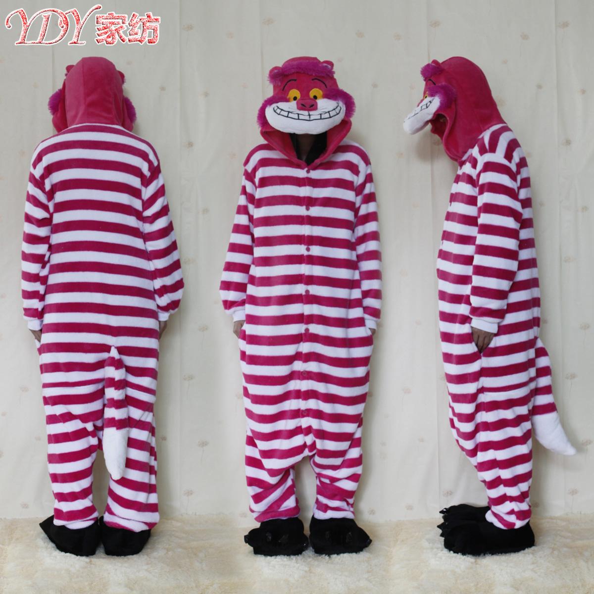 Фабрика прямые оптовые Чеширский Кот плюс размер цельных пижамы зима мультфильм животных шоу участник одежда экспорт