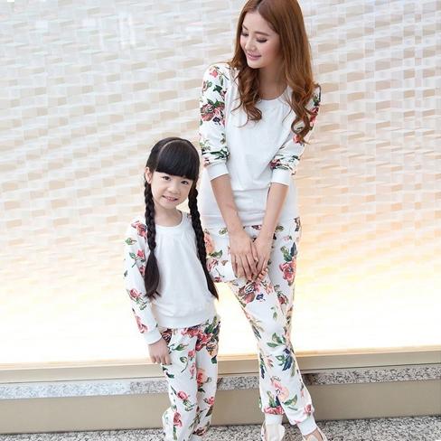 Мода весна и осень fun fun картридж Корейский весной весна новый прилив 2016 с длинным рукавом мать и дочь набор