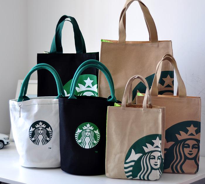 Starbucks Японии Buster льда литой толстый прочный холст кулер сумка сумки сумка сумка легко